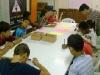 Aula do Curso para Crianças (preparando exercício)